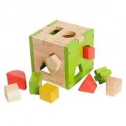 Boite Cube Des Formes Everearth - Jouets Bois