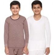 Vimal-Jonney Premium Blended Multicolor Thermal Top For Boys(Pack Of 2)