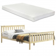 [en.casa] Manželská posteľ ABWB-2013 s matracom a roštom 180x200 cm