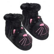 Geen Pantoffel sokken zwarte kat