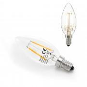 [lux.pro] Bombilla LED E14 de filamento luz blanca cálida 2700K 160lm 2W forma de vela