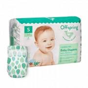Offspring Эко-подгузники Листочки размер S (3-7 кг) 48 шт.