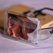 Szemüvegtörlő kendő tartó plasztik tasak