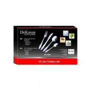 Set tacamuri Inox 24 de piese DeKassa DK3901