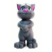 KARTsHITech Intelligent Talking Tom Cat with Recording, Music, Story & Touch Functionality, Wonderful Voice with Stories & Songs (Black/Grey)