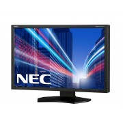 NEC MultiSync PA242W black 24.1' LCD monitor with GB-R LED backlight, 10-bit AH-IPS panel, AdobeRGB, resolution 1920x1200, VGA, DVI, DisplayPort, HDMI, PiP, DUC, 150 mm height adjustable