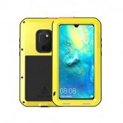 LOVE MEI Dust-proof Shock-proof Splash-proof Defender Back Case for Huawei Mate 20 - Yellow