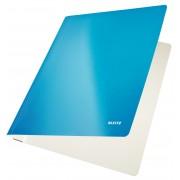 Dosar din carton, cu sina, 250 g/mp, albastru metalizat, LEITZ WOW