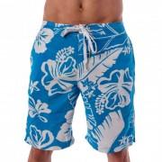Lord Hibiscus Boardshorts Beachwear Light Blue/White MA009