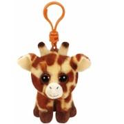 Jucarie plus cu breloc 8.5 cm Beanie Babies PEACHES - giraffe TY