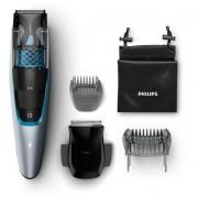 Aparat de tuns barba cu aspirator Philips Beardtrimmer BT7210/15, Acumulator, 75 min, Argintiu