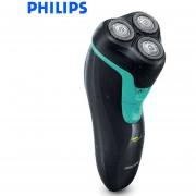 Philips Wet/Dry a prueba de agua reciprocante Afeitadora eléctrica FT668/FT618 con Triple hoja recargable máquina de afeitar rotativa(Azul FT658)