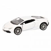 Lamborghini Speelgoed witte Lamborghini Huracan LP610-4 auto 12 cm