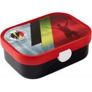 Lunchbox - België - Gevuld met dropmix - In cadeauverpakking met gekleurd lint