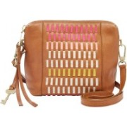 Fossil Women Multicolor Genuine Leather Sling Bag