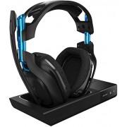 ASTRO Gaming A50 Wireless Biauricular Diadema Negro, Azul auricular con micrófono Auriculares con micrófono (PC/Juegos, Biauricular, Diadema, Negro, Azul, PS3. PS4, PC, Mac, Inalámbrico y alámbrico)