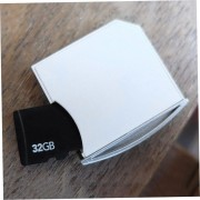 EY Memoria Mini Short SDHC TF Adaptador Drive Macbook Air Hasta 64G Color Blanco.