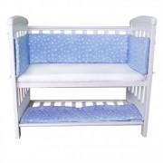 Aparatori laterale pentru pat cu laterala culisanta 120x60 cm Sweet Stars Blue