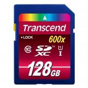 SD Card, 128GB, Transcend SDXC, Class10 (TS128GSDXC10U1)
