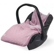 Sac pentru scaun auto si carucior Jollein Diamond Knit 025-811-65076, 38 x 78 cm (Roz)