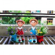 Wonderland Garden Pots Small Red Boy with Pot(Garden Decor Home Decor Gift Items)