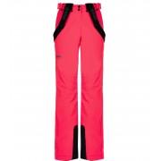 KILPI Dámské lyžařské kalhoty - větší velikosti ELARE-W LLX040KIPNK Růžová 50