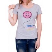 Сива дамска тениска Foggy