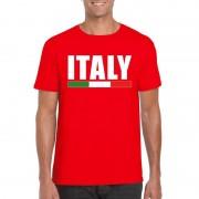 Bellatio Decorations Rood Italie supporter shirt heren
