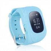 Ceas smartwatch copii GPS Wonlex Q50 cu functie telefon buton SOS si monitorizare spion Albastru Pachet Bundle