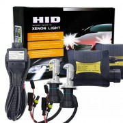 55W H4/HB2/9003 4300K HID Xenon Light Conversion Kit with Slim Ballast High Intensity Discharge Lamp Warm White