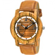 RIDIQA Wooden Traditional Analogue Brown Dial MenS Watch RD-219