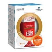 Gel-creme brown spf50 50ml + 2 pós compactos cor castanha e clara 2.5g - Heliocare
