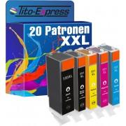 Tito-Express PlatinumSerie PlatinumSerie® Set 20x inktcartridge XXL voor Canon PGI-550XL & CLI-551XL Canon Pixma IP7250 MG5450 MG6350 MX725 MX925