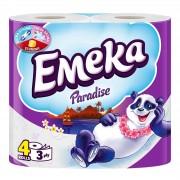 Emeka Paradise Hartie igienica 3 straturi 4 role