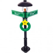 MinifigurePacks: Lego City/Town STREET SIGN - LAMP POST Intersection of Stud & Pine