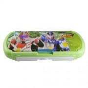 Saamarth Impex Cratoon Character Printed Green Color Pencil Box With Inbulit Notepad Slider SI-3261