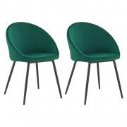 Happy Garden Lot de 2 chaises vintage DIANE velours vert