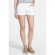 7 For All Mankind Cuffed Denim Shorts Clean White CLEAN WHIT