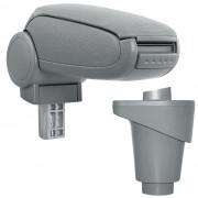 PremiumXL - [pro.tec] Naslon za ruke – specifičan za Fiat 500L - naslon za ruke za auto - sa pretincem - tkanina - siva