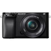 Sony »Alpha 6100 Kit mit SELP1650« Systemkamera (SELP1650, 24,2 MP, NFC, Bluetooth, WLAN (Wi-Fi), schwarz