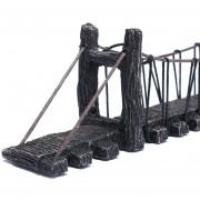 Oanda Ornamento Del Acuario Decoración De Estilo Antiguo Puente Artificial Paisaje De La Decoración Para El Tanque De Pescados, M