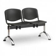 Kovo Praktik Plastové lavice ISO II, 2-sedák, chrom nohy modrá