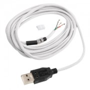 Cablu USB paracord universal pentru mouse CeeSA 2.2m, white, CSA-46-uni