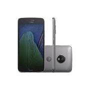 Smartphone Moto G5 Plus Dual Chip Android 7.0 Tela 5.2 32GB 4G Câmera 12MP - Platinum