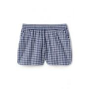 Lands' End Gemusterte Baumwoll-Shorts mit Schlüpfbund für kleine Mädchen - Blau - 122/128 von Lands' End
