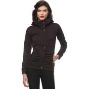 PURYS Coffee Brown zip up Fleece jacket