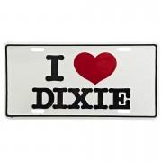 Cedule plechová Licence I Love Dixie