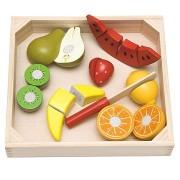 Woody Szeletelés a vágódeszkán - gyümölccsel, görögdinnyével