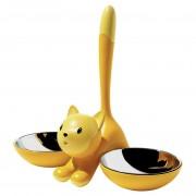 Alessi Tigrito katten voerbak geel