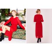 Zibi London Ltd £12.99 instead of £38 (from Zibi London) for an April long sleeve burgundy dress - save 66%